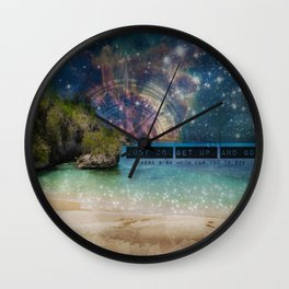 Get Up and Go Wall Clock