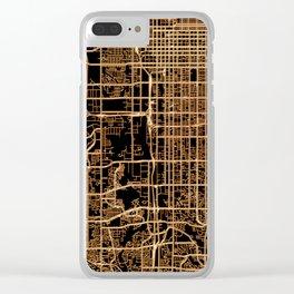 Salt Lake City map Clear iPhone Case