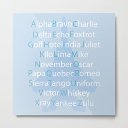 Phonetic Alphabet Metal Print