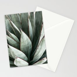 Cactus Leaves // Green Southwest Home Decor Vibes Desert Hombre Plant Photograph Stationery Cards
