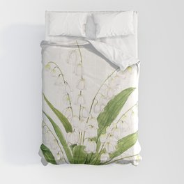 white lily of valley Comforters