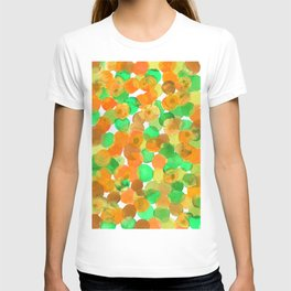 Watercolor Circles- Orange and Green Palette T-shirt