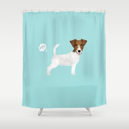 jack russell terrier farting dog cute funny dog gifts pure breed dogs Shower Curtain