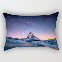 Mountain Reach the Galaxy Rectangular Pillow