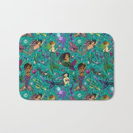 Ethnic Mermaid's Bath Mat