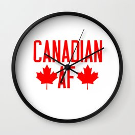 Canadian AF  Wall Clock