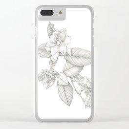 Gardenia Clear iPhone Case