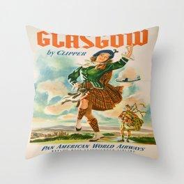 Vintage poster - Glasgow Throw Pillow