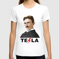 tesla T-shirts featuring Tesla by Vi Sion