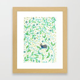 Snail Heaven Framed Art Print