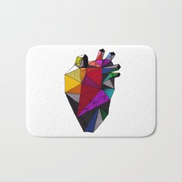 Rainbow Heart Bath Mat