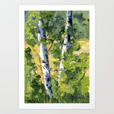 Aspens - Ready to Turn Yellow... Art Print