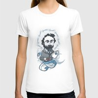 writer T-shirts featuring Jules Verne Holy Writer by roberto lanznaster