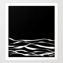 A Bottomless Sea 3 Black and White Art Print