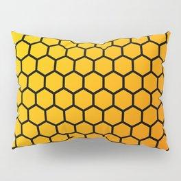Yellow and orange honeycomb pattern Pillow Sham