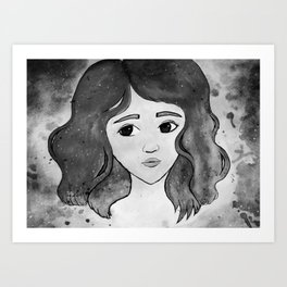 Celestine - Black and White Art Print