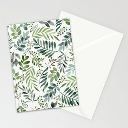 Botanical leaves -Watercolor   Stationery Cards