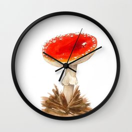 Fairy tale mushroom Wall Clock