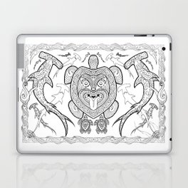 Nga mea o te moana (Creatures of the sea) Laptop & iPad Skin