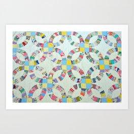 Colorful quilt pattern Art Print