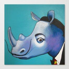 Rhino Dalì Canvas Print