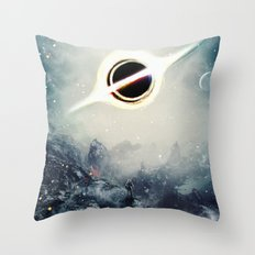 Interstellar Inspired Fictional Sci-Fi Teaser Movie Poster Throw Pillow