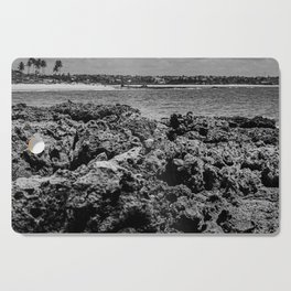 Landscape of sea rocks and the beach Cutting Board
