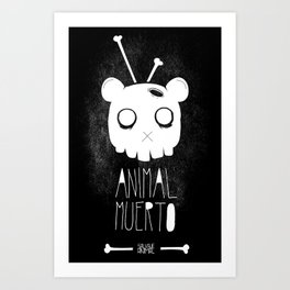 Animal Muerto Art Print