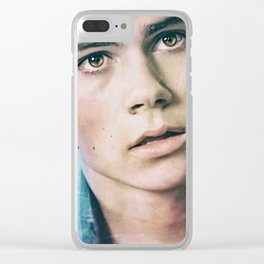Stiles in Blue Clear iPhone Case