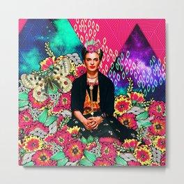 Galaxy Frida Metal Print