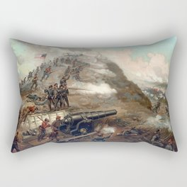 The Capture Of Fort Fisher Rectangular Pillow