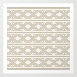 Coffee and Cream Aztec Design Art Print
