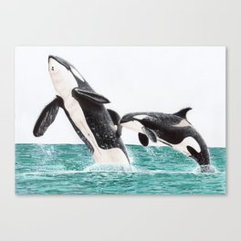 Keiko and Morgan Canvas Print