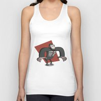 planet of the apes Tank Tops featuring Caesar - Dawn of the Planet of the Apes Cartoon by Aaron Lecours
