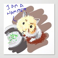 hamster Canvas Prints featuring Hamster by wingnang