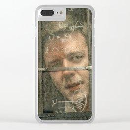 A Beautiful Mind Clear iPhone Case