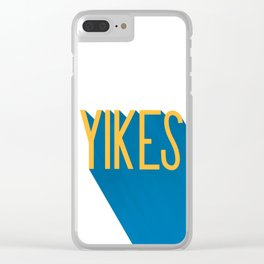 """""""Yikes"""" Typography Clear iPhone Case"""