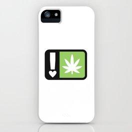 marijuana universal symbol of love iPhone Case