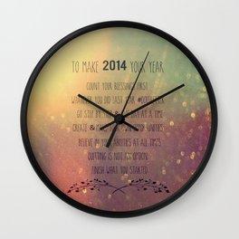 Good Advice #2014 Wall Clock