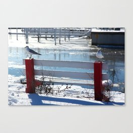 Waiting on the Bench Canvas Print
