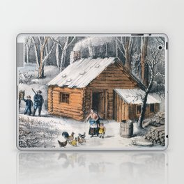 Vintage Home in The Wilderness Painting (1870) Laptop & iPad Skin