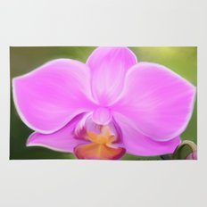 Painted Orchid Rug