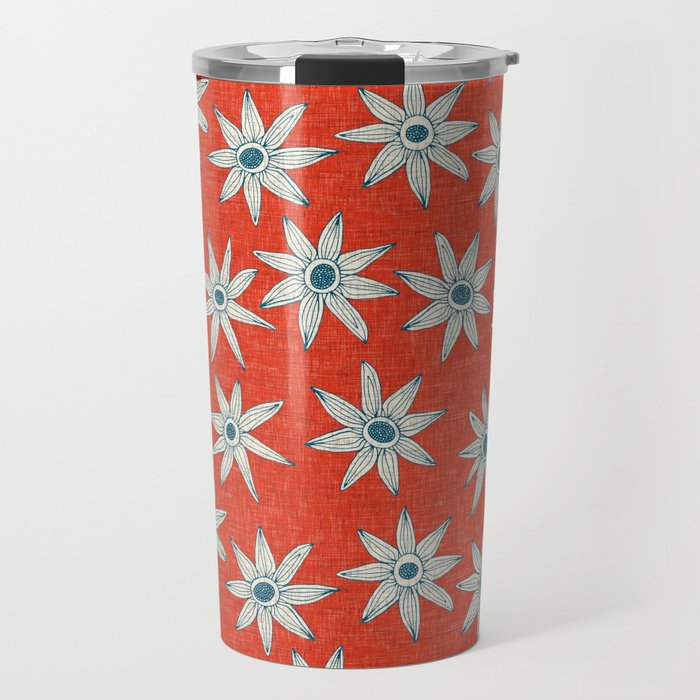 sema fire orange blue Travel Mug