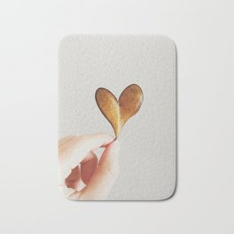 Perfect heart by nature leaf Bath Mat