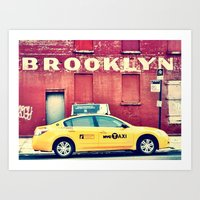 brooklyn Art Prints featuring Brooklyn  by Pinkspoisons