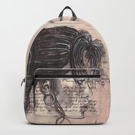 Handwritten letter with portrait Backpack