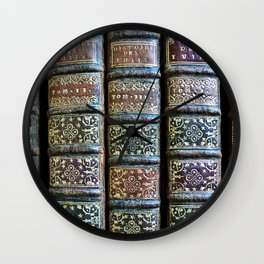 Old Books Wall Clock