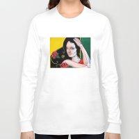 dia de los muertos Long Sleeve T-shirts featuring Dia de los Muertos by whiterabbitart
