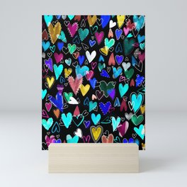 Crazy heart Mini Art Print