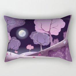 Violet Moon Rectangular Pillow